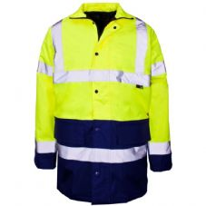 Supertouch Hi-Vis 2 Tone Parka Yellow/Blue - Large